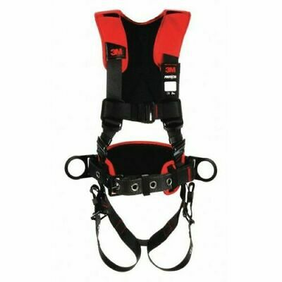 3M PROTECTA 1161207 Comfort Construction Style Positioning Harness, Black, XL