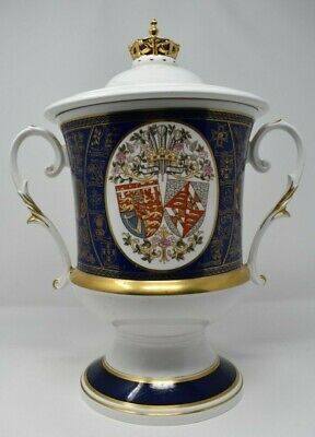 Very Rare Caverswall England Giant Porcelain Pot With Lid Limited Edition 14inch