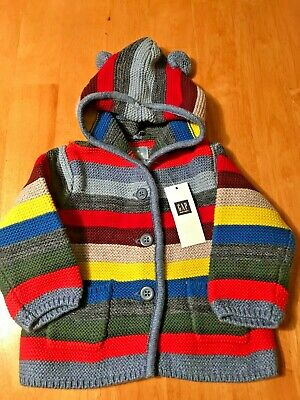 NEW//NWT~CARTERS~BROWN TEDDY BEAR CARDIGAN SWEATER~Baby Boys~6 months~100/% Cotton
