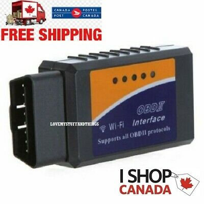 ELM327 WiFi Or Bluetooth OBD2 OBDII Car Diagnostic Scanner Code Reader Canada