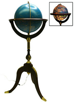 Royal Geographical Society Franklin Mint Constellation Globe Floor Stand Lighted