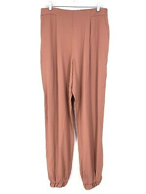 ASOS Womens Size 10 Tall Loose Fit Pull On Pleated Front Jogger Pants Rose Pink