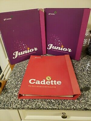 Girl Scout Handbook ~ Cadette and Junior Books Lot of 3