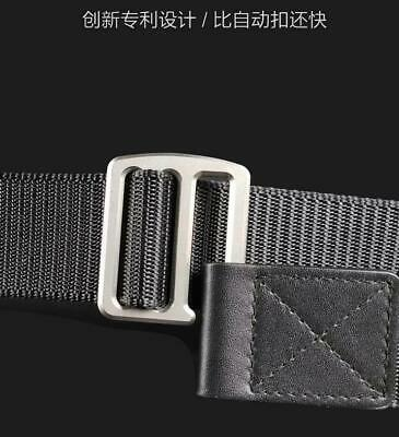 Tactical Men Titanium Alloy Buckle Nylon Belt Simple Waistband Business Belt