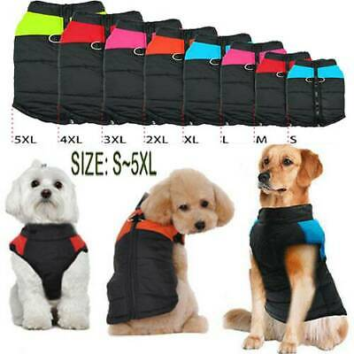 Muti-size Waterproof Dog Clothes Autumn Winter Warm Padded Pet Coat Vest Jacket☆
