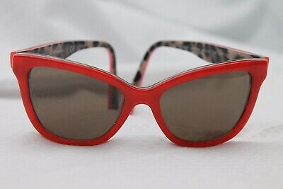 Dolce & Gabbana 4237 Red Leopard Logo Print Acetate Girls Sunglasses 47-15 130