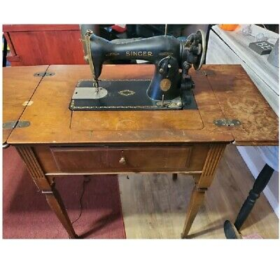 Vintage Old Singer 1935 ELECTRIC SEWING MACHINE With Cabinet Table FAST SHIPPING