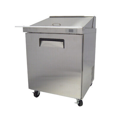 """29"""" MEGA TOP One Door Stainless Refrigerated Salad Sandwich Prep Table"""