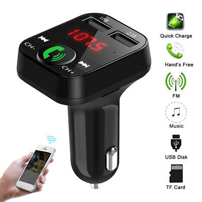 Bluetooth Wireless In Car MP3 FM Transmitter Car Radio Adapter Kit 2 USB Charger
