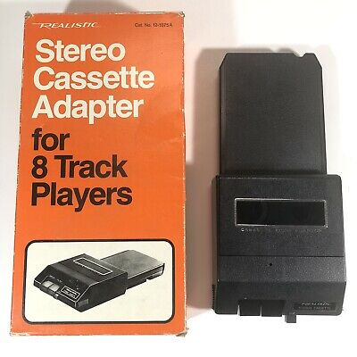 Realistic Stereo Cassette Adapter for 8 Track Players 12-1875A Vintage Japan