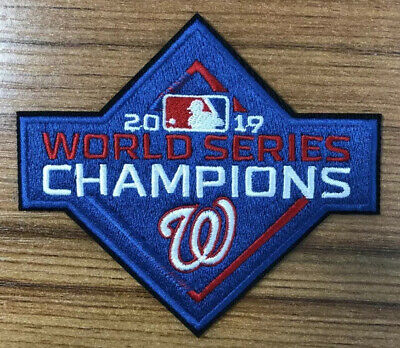 2019 Washington Nationals World Series Champions Patch Mlb Embroidered Iron On