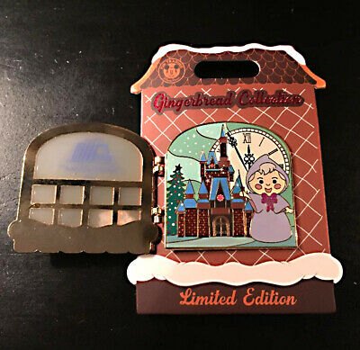 2019 Disney Contemporary Resort Christmas Gingerbread House Fairy Godmother Pin