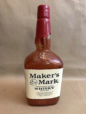 Makers Mark Whisky Red Wax Sealed Empty Bar Display Bottle Collectible