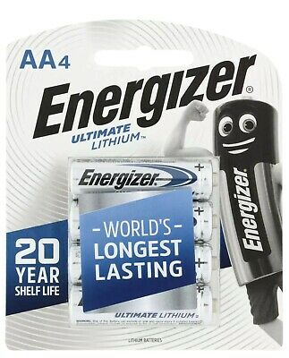 1 x AA ENERGIZER ULTIMATE LITHIUM 4 Pack