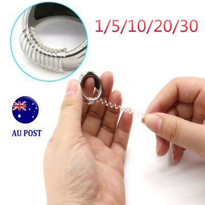 1-30 Ring size reducers Spiral Invisible Snugs Guard RESIZER ADJUSTERS TOOLS M8#