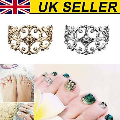 Women Celebrity Silver Daisy Toe Ring Women Punk Style Finger Foot Jewelry UK