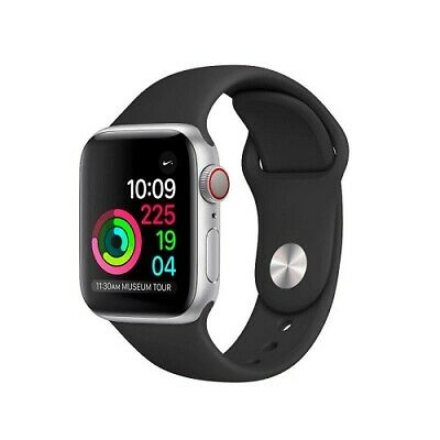 RECAMBIO PARA CORREA APPLE WATCH SILICONA COLOR NEGRA NEGRO 42 mm SERIES 1 2 3