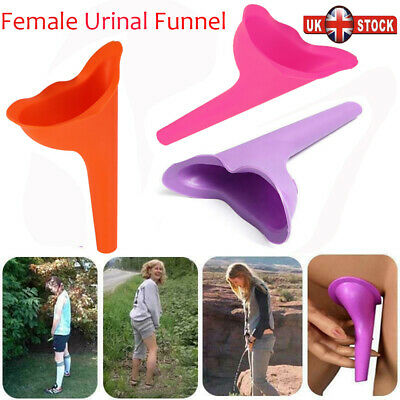 2x Portable Camping Urinal Funnel Ladies Urine Wee Loo Travel Sports Outdoor UK