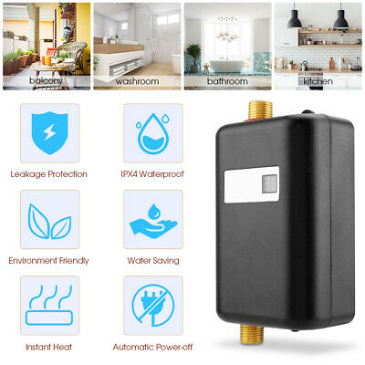 Stainless Steel Instant Electric Hot Water Heater Boiler Kitchen Bathroom Shower