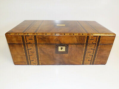 Writing Slope Antique Tunbridge Ware Victorian Walnut And Parquetry. 1860-1880