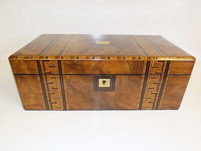 Writing Slope Large Tunbridge Ware Victorian Walnut And Parquetry. 1860-1880