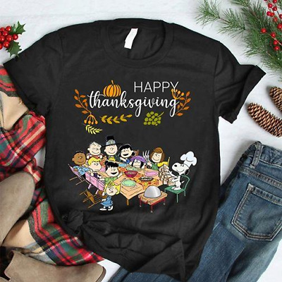 Happy Thanksgiving The Peanuts Characters Tshirt/ Long sleeves