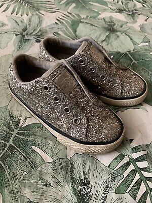 Girls Next Trainers Pumps - Sparkly -  Size 8 - Worn Once