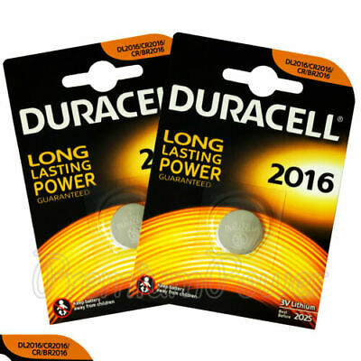 2x Duracell CR2016 3V Lithium Coin Cell Battery 2016 DL2016 BR2016 SB-T11