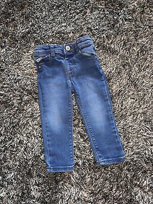 Immaculate - River Island Denim Blue Skinny Jeans - 9 - 12 Months