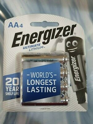 Energizer Ultimate Lithium AA 4PK - Holds Power for up to 20 years!