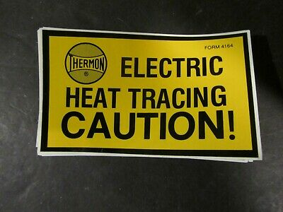 Electric Heat Tracing Caution Labels / 25pcs