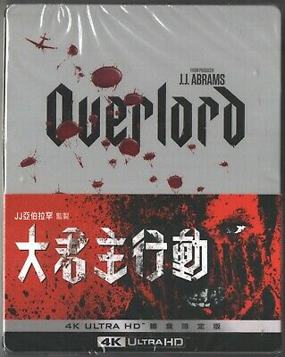 Overlord 4k UHD (2018) TAIWAN BLU RAY STEELBOOK SEALED