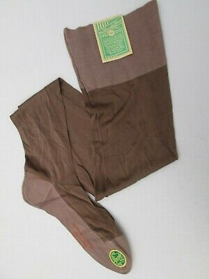Original Vtg  30's 40's Lincoln Hose Pure Silk Panel Fully Fashioned Stockings 9