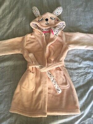 New Girls Bunny Rabbit Dressing Gown Age 3-4