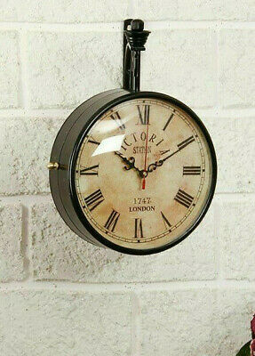 """Victoria Station Clock 6""""Double Sided Railway Functional Clock Home Decor London"""