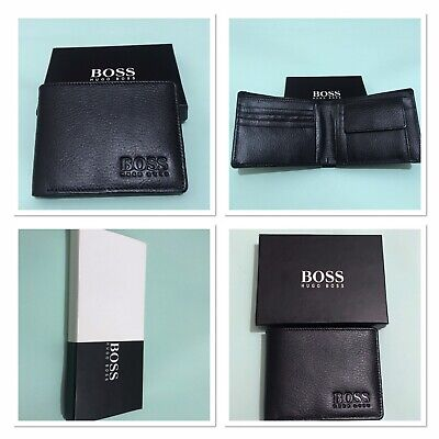New Hugo Boss Designer Leather Wallet Bank Card, ID Card, Notes & Coin Holder