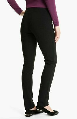 Eileen Fisher  Womens Slim Ponte Knit Pull-on Skinny Pants Black Size Small