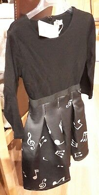 BNWT Miss Grant RRP £160 'Musical Notes' girls DRESS age 6 years GORGEOUS fitted