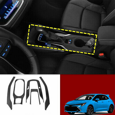 For Toyota Corolla 2019-2020 Carbon Inner Gear Water Shift Cup Holder Cover Trim