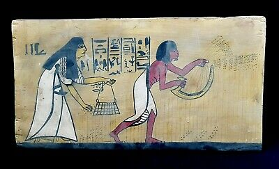 Rare huge Egyptian Ancient Antique Egypt relief hieroglyphic wood carving