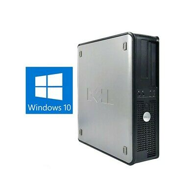 Pc Computer Fisso Desktop Dell Optiplex 380 Small 2 Duo E5800 4Gb 160Gb Win 10-
