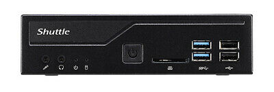 Shuttle XPС slim DH310V2 PC/workstation barebone 1L sized PC Black Intel® H310 L