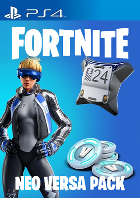 PS4 PlayStation 4 - Fortnite Game Neo Versa Bundle Code Outfit + 2000 V-Bucks