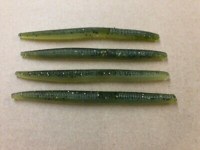 """6/"""" USA MELON GHOST FREE Shipping 5.5/"""" Senko Style Worm 100 pack Fishing Lures"""
