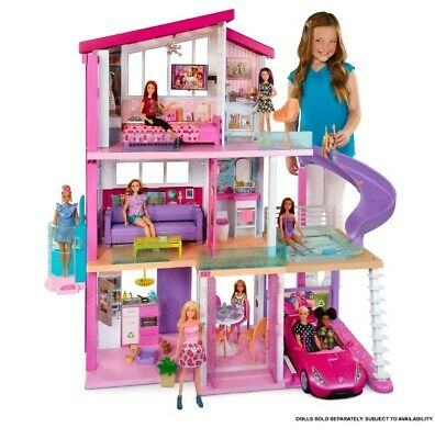 Barbie Dream House Playset & 70+ Accessories Girls Pretend House Play Set, Gift