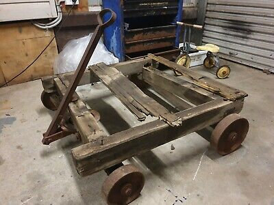 """Railway Station Trolley """"Genuine Vintage"""" Fully complete - So much Character"""