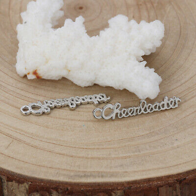 BULK 50 Cheerleader charms antique silver tone SP89