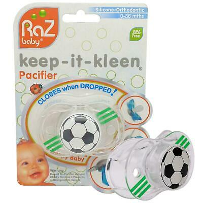 RaZbaby - Keep-it-Kleen Soother (Football) 0-36 Months