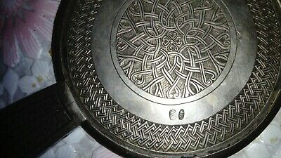 Antique Solid silver carved Russian Empire hand mirror, hallmarked by Armenian