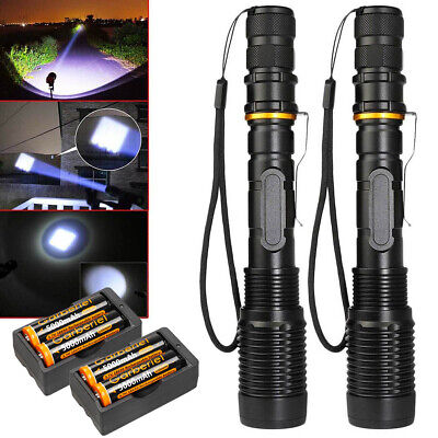 990000Lumen Police Tactical T6 LED High Powered 5-Zoom 18650 Flashlight Torch